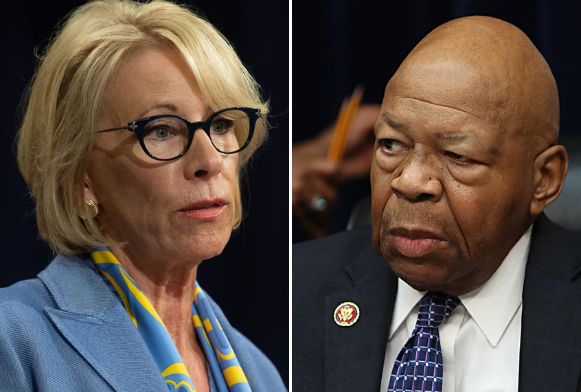 Betsy Devos Ignorance Is Not Compelling >> Elijah Cummings Expands Probe Into Betsy Devos Alleged Use Of