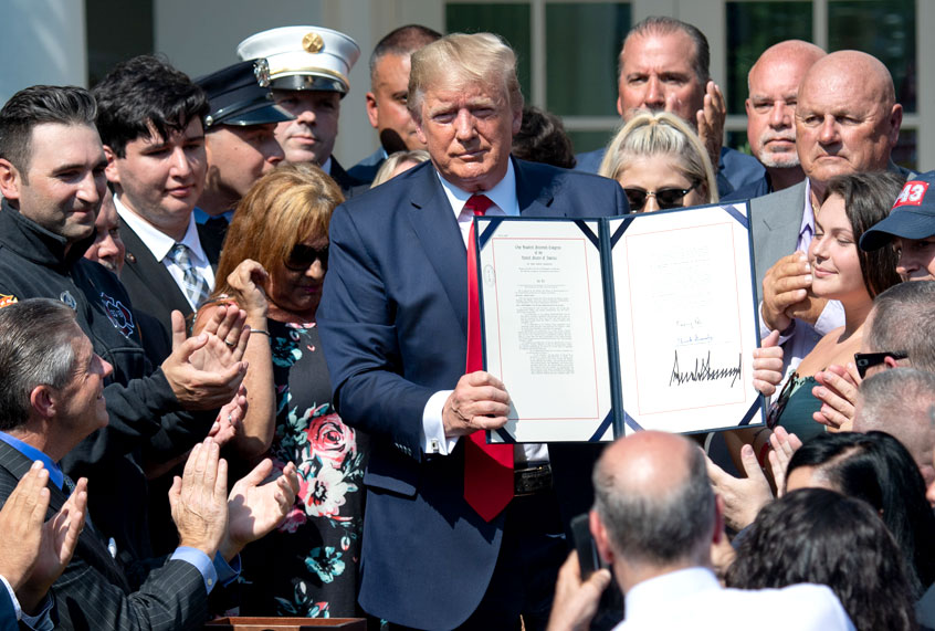 Trump signs 9/11 Victim Compensation Fund — but doesn't