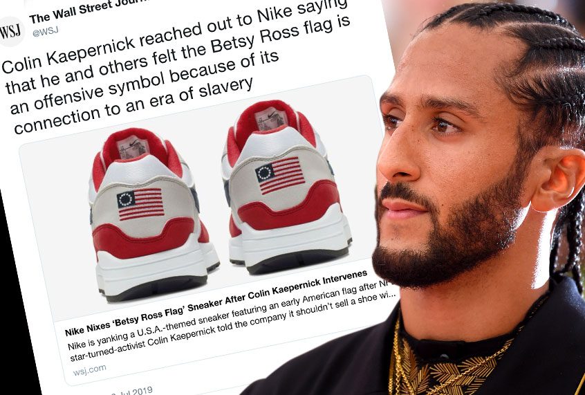 d3756fcc Colin Kaepernick tanks Betsy Ross's Nike sneaker deal and ...
