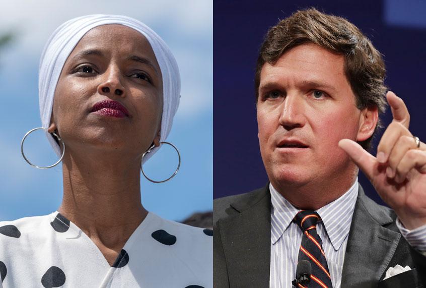 Rep  Ilhan Omar calls Fox News host Tucker Carlson a
