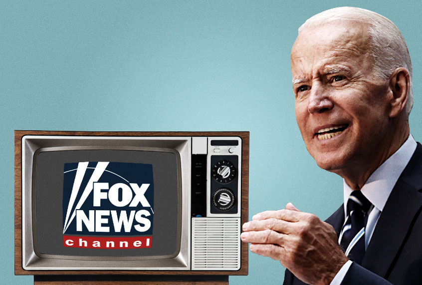 Invoking polls, Joe Biden pushes back against Fox News