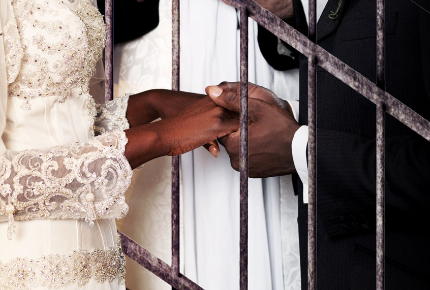 Desert bloom: My wedding day, inside a California prison