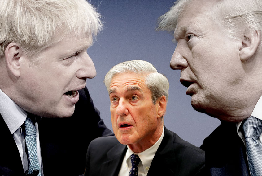Donald Trump asked Boris Johnson to help him discredit Robert Mueller's report; Trump also asked the Australian and Italian governments to help him discredit Mueller