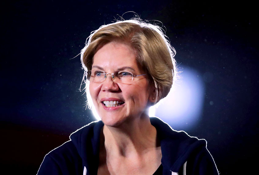 """New polls exclude Elizabeth Warren as supporters claim the media has """"erased"""" her candidacy"""
