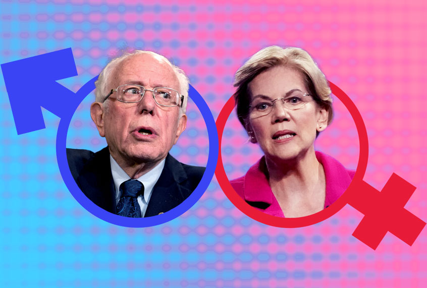 Battle over sexism hurts both Warren and Sanders — but for different reasons