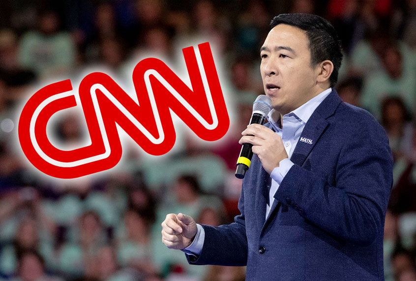 Andrew Yang makes his debut as CNN political commentator just in time for the debate