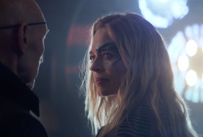 """""""Star Trek"""": Watch Picard and Seven of Nine discuss their Borg past in this exclusive sneak peek"""