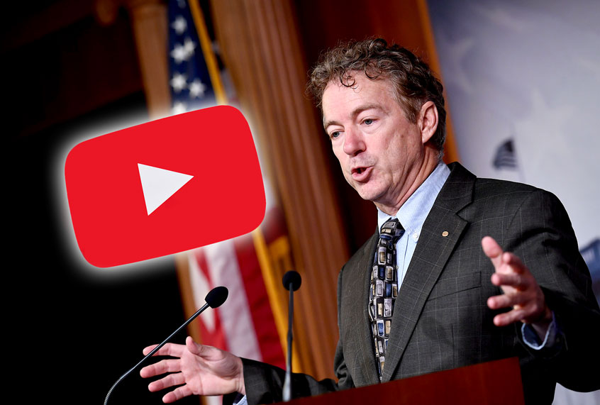"Rand Paul rips YouTube after it yanks video of him naming alleged whistleblower: ""This is dangerous"""