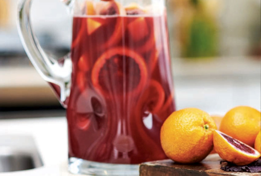 You can make a delicious alcohol-free sangria by juicing beets