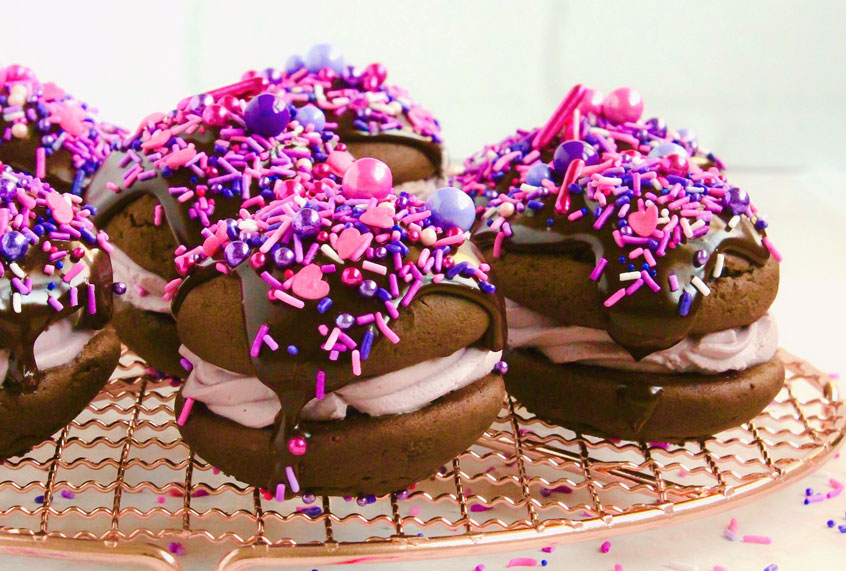 Level up Valentine's Day by giving whoopie pies a red wine makeover