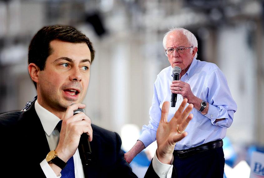 Pete Buttigieg attacks a straw-man version of Bernie Sanders, and media plays along