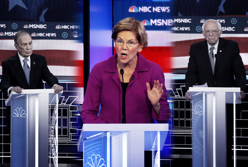 Warren reduced Bloomberg to rubble — but political media remains focused on stopping Bernie