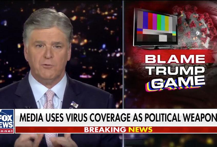 Sean Hannity slams critics of coronavirus response: No president except Trump has at any time acted faster