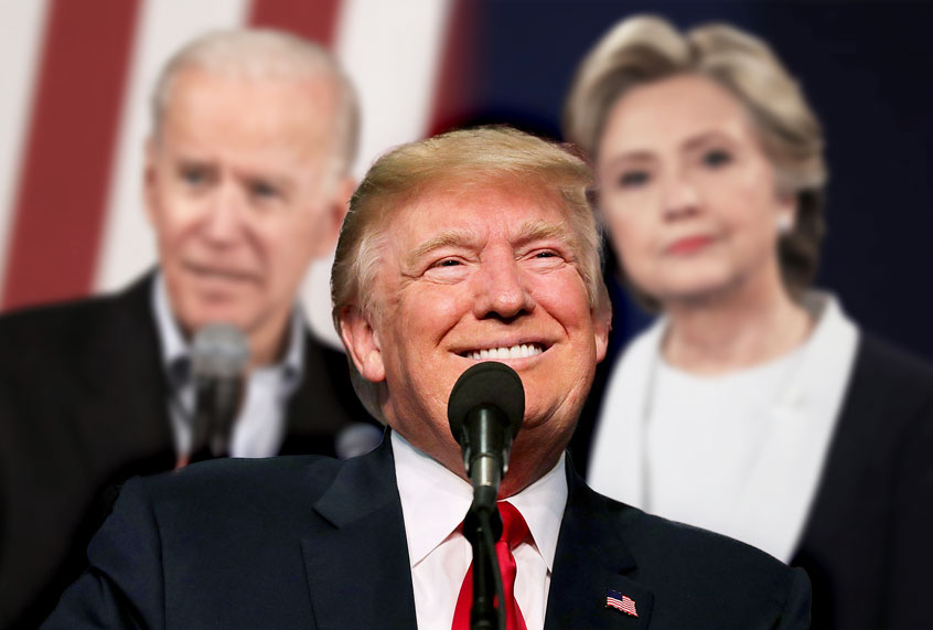 Democrats don't have to save themselves. Donald Trump is still here to help