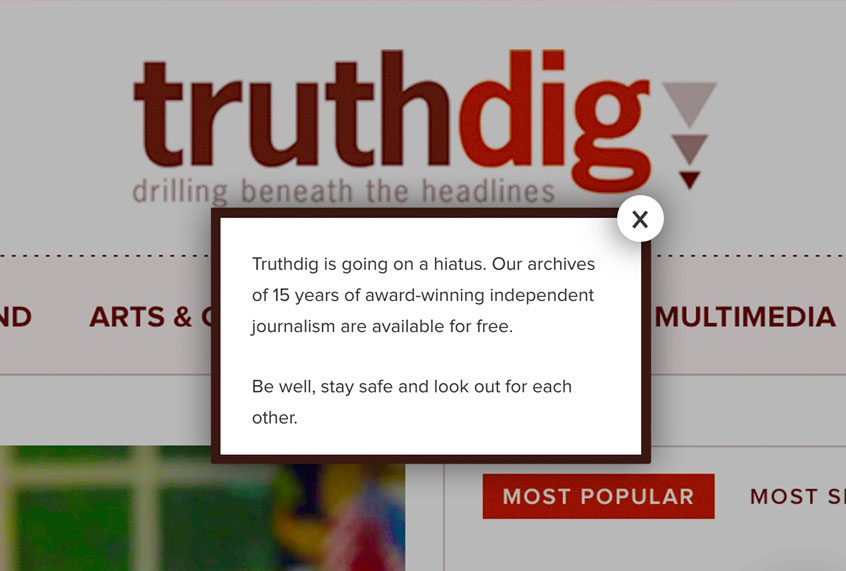 Truthdig staff laid off amid work stoppage