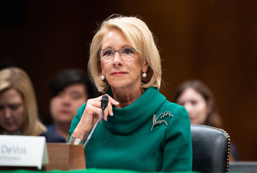 "ACLU sues Betsy DeVos over ""reprehensible"" new sexual assault rules"