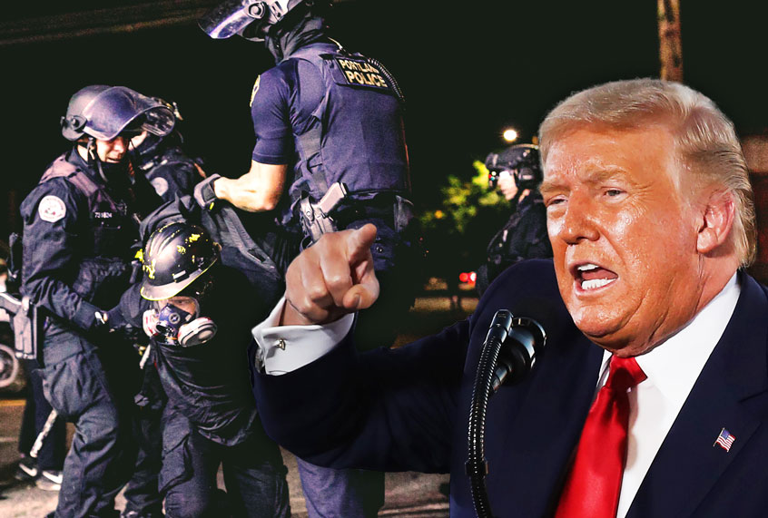 """Trump orders federal agencies to """"defund"""" cities with protests against police violence: report thumbnail"""