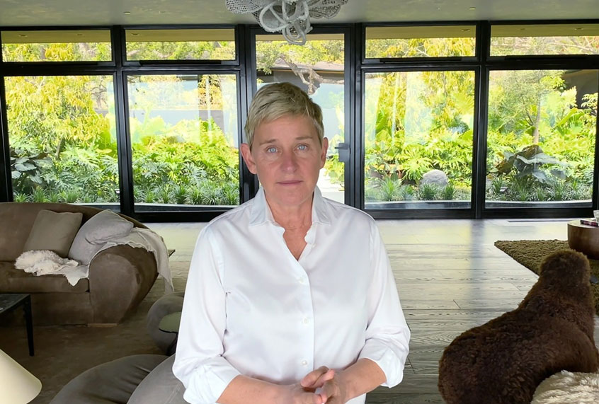 The problem with Ellen DeGeneres is that she...