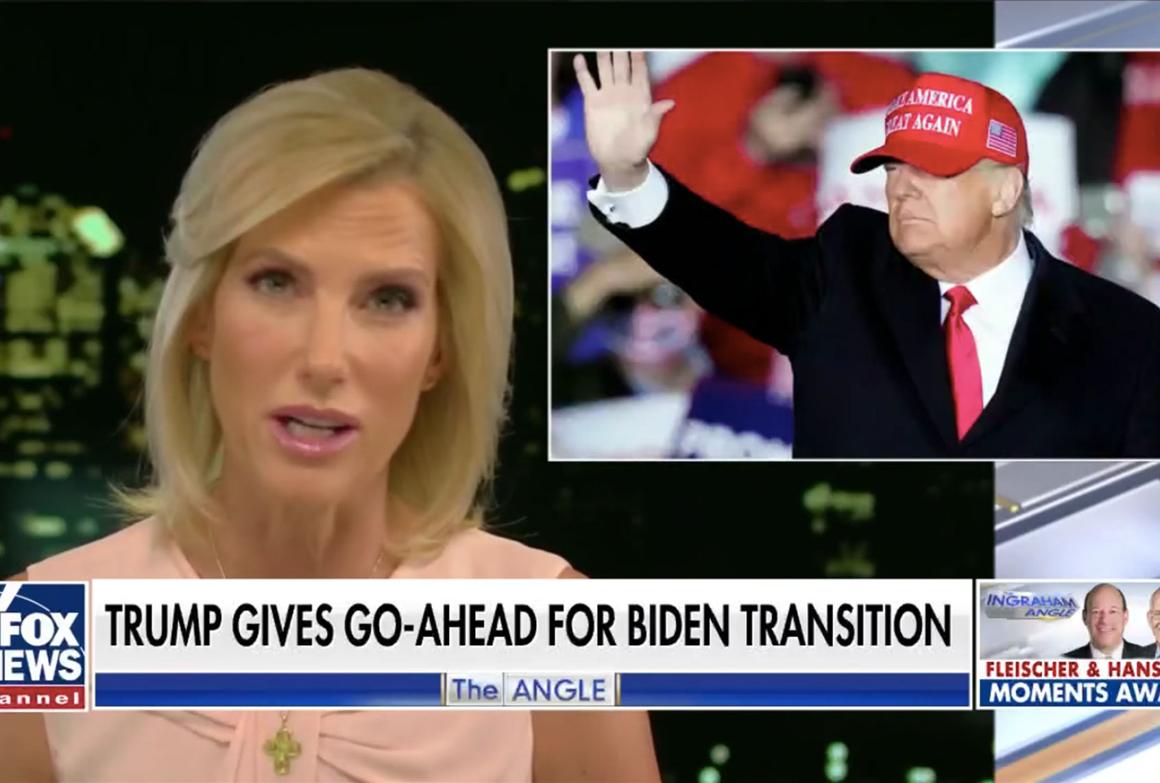 "Ingraham admits Trump lost — and saying otherwise is ""lying"": ""This constitutes living in reality"""