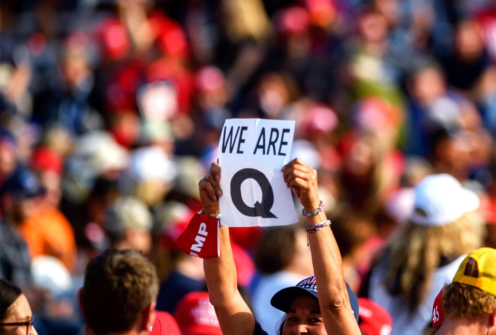 Many QAnon followers report having mental health diagnoses