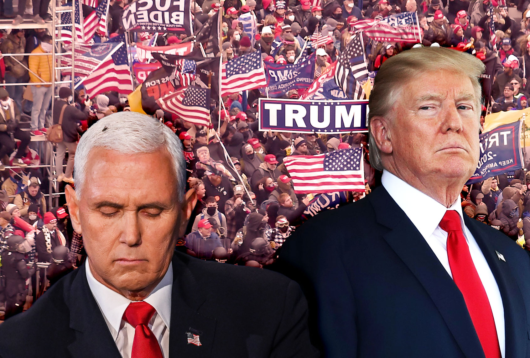 """""""Absolutely false"""": Fox News brutally truth checks Mike Pence after he whitewashes the Capitol riot thumbnail"""