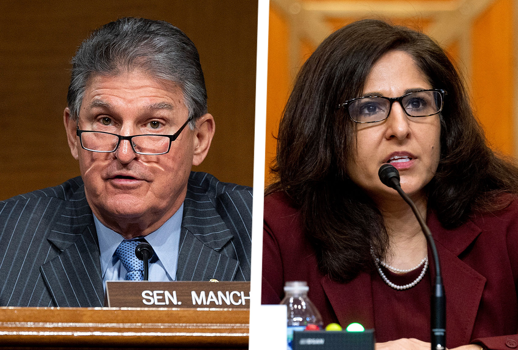 <p>Joe Manchin, who voted to Affirm Brett Kavanaugh, to vote against Neera Tanden over mean tweets thumbnail