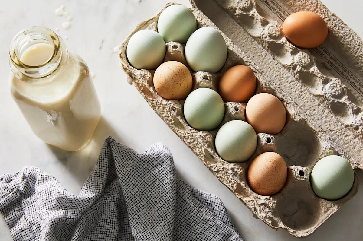 Eggs are found in the dairy aisle, but does that actually mean they're dairy products? thumbnail