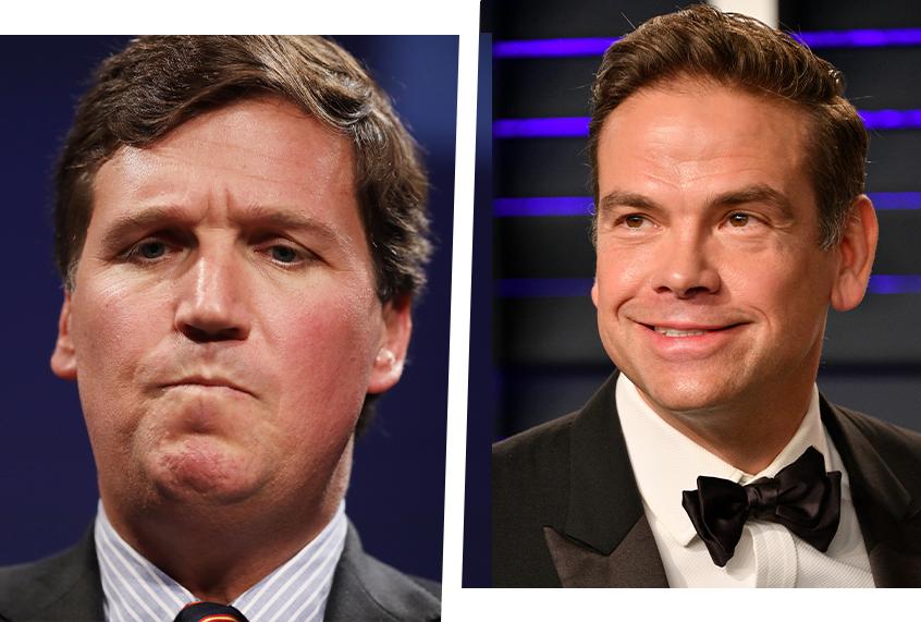 "Fox CEO calls Tucker Carlson ""brave,"" defends network's vaccine falsehoods in rare interview"